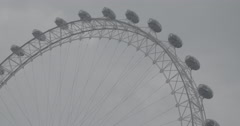 The London Eye CLOSE UP / London, England - 4K Stock Footage