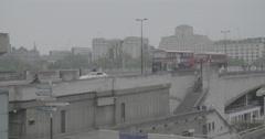 Traffic on Waterloo Bridge - London, England - 4K Stock Footage