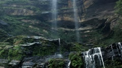 Waterfall camera tilt from top to bottom Stock Footage