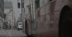 Traffic in Central London - London, England - 4K Stock Footage