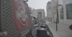 Santander Bike Hire (Boris Bike) - London, England - 4K Stock Footage