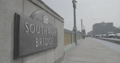 Southwark Bridge - London, England - 4K Stock Footage