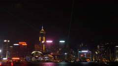 Hong Kong Symphony of Lights at victoria harbor Stock Footage