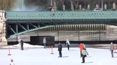 4K footage of the City Park Ice Rink in Budapest, Hungary Stock Footage