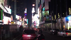 NEW YORK CITY:  Cars, traffic and pedestrians enter Times Square, Stock Footage