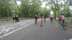 NEW YORK CITY, CENTRAL PARK - 4K DX POV GoPro Biking Driving Plate #2 Stock Footage