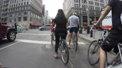 NEW YORK CITY, CHELSEA- 4K DX POV GoPro Biking Driving Plate #10 - Stock Footage