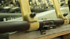 Machine in print shop Stock Footage