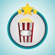 Pop corn cinema and movie design Piirros