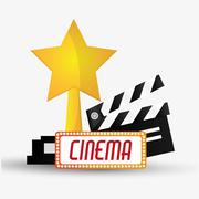 Clapboard cinema and movie design Stock Illustration
