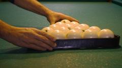 Preparing to billiard game Stock Footage