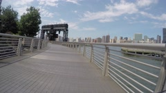 NEW YORK CITY, LONG ISLAND CITY - 4K DX POV GoPro Biking Driving Plate Stock Footage