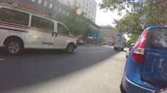 NEW YORK CITY, EAST VILLAGE  - 4K DX POV GoPro Biking Driving Plate #17 Stock Footage