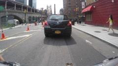 NEW YORK CITY, UPPER EAST SIDE - 4K DX POV GoPro Biking Driving Plate Arkistovideo