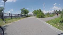 WILLIAMSBURG, BROOKLYN  - 4K DX POV GoPro Biking Driving Plate #25 - Stock Footage