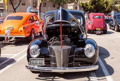 Black 1940 Ford Deluxe Sedan Stock Photos