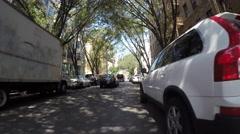 WILLIAMSBURG, BROOKLYN - 4K DX POV GoPro Biking Driving Plate #28 - Stock Footage