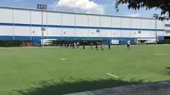 WILLIAMSBURG, BROOKLYN:  Urban youth and athletes practice Stock Footage