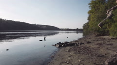 Sideriver of Dnieper in Zaporozhye Ukraine Stock Footage