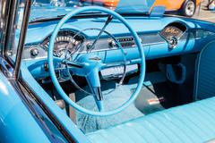 Blue 1955 Chevrolet Bel Air convertible Stock Photos