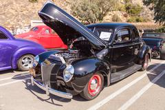 Black 1940 Ford Coupe Stock Photos