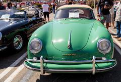 Green 1957 Porsche 356 A Cabriolet Kuvituskuvat