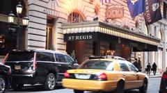 The St. Regis Hotel Manhattan Stock Footage