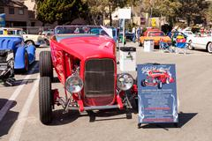 Red 1932 Ford Roadster Hi-Boy Stock Photos