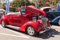 Red 1936 Ford Model 68 Cabriolet Stock Photos