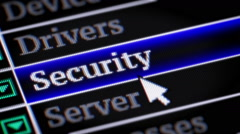 Security. My own design of program menu. Stock Footage