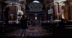 Budapest, Hungary. Circa August 2016. Camera movement inside the St. Stephen Stock Footage