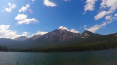 Pyramid Lake, Canada (time lapse) Stock Footage
