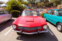 Red classic 1964 Rivolta GT Coupe Stock Photos