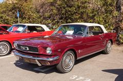 Red 1966 Ford Mustang Stock Photos
