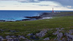Lighthouse in the far north European Stock Footage
