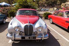 Red classic Jaguar 3.8 GB Stock Photos