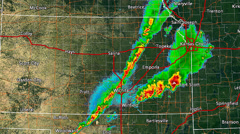 Kansas Severe Weather Wide Doppler Radar (no Warn Boxes) Stock Footage