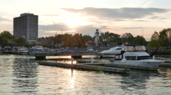 Port Credit Marina Mississauga Stock Footage