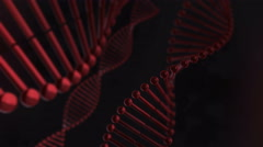Red Blood Cells DNA Strand Chain Helix Looping Animation 4K Stock Footage