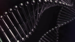 Black Metal DNA Strand Chain Helix Looping Animation 4K Stock Footage