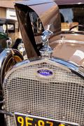 Tan 1929 Ford Deluxe Town Sedan Stock Photos