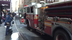 NEW YORK CITY: NYFD New York Fire Department Fire Engines in Stock Footage
