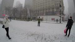 New York City: A massive blizzard of 2015 strikes Manhattan Stock Footage