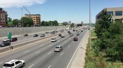 DENVER, COLORADO: Shot of Interstate 25 Stock Footage