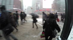 New York City : A massive blizzard of 2015 strikes Manhattan Stock Footage