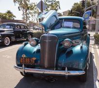 Teal 1937 Chevrolet Master Deluxe Stock Photos