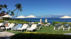 Maui, Hawaii: A view of the ocean from Four Seasons Resort Maui Stock Footage