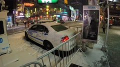New York City - January 26, 2015: A massive blizzard of 2015 strikes Manhattan Stock Footage