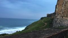 San Juan National Historic Site in the Old San Juan section of San Juan, Puerto Stock Footage