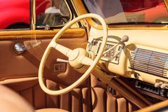 Yellow 1940 Ford Deluxe Convertible Stock Photos